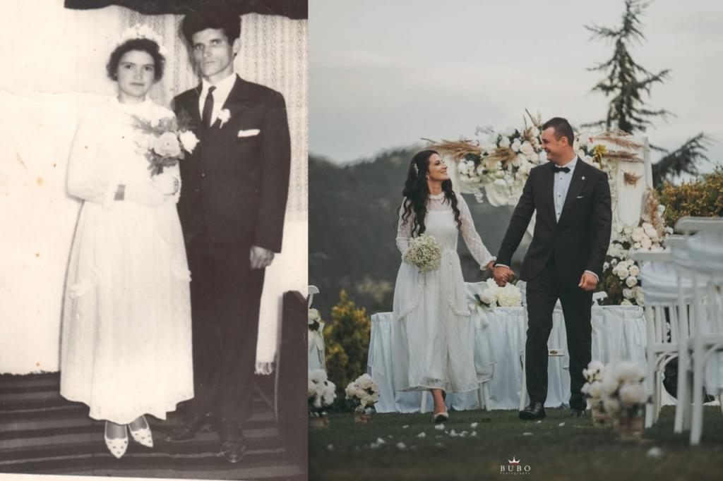ЖИВОТНИ ПРИКАЗНИ: Славица се венча во истиот фустан во кој пред 53 години се венчала и нејзината баба