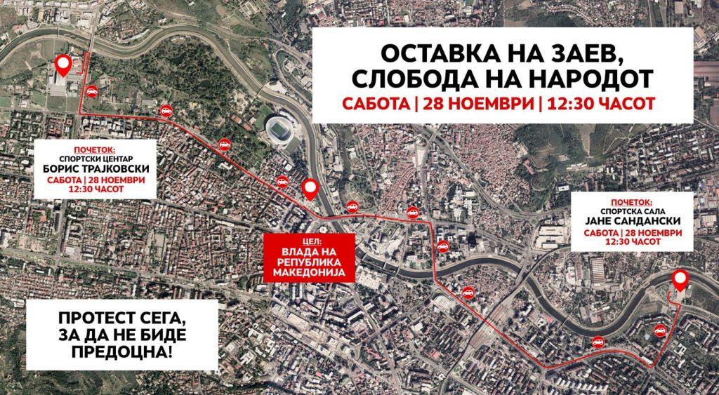 ДЕНЕСКА НОВ ПРОТЕСТ: Оставка на Заев, слобода на народот – од 12:30 часот пред Владата во Скопје