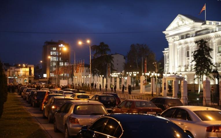 """И денеска блокади во Скопје под мотото """"Оставка за Заев – слобода за народот"""""""