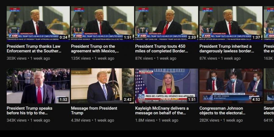 Белата куќа ги избриша сите снимки со Трамп од нејзиниот канал на Јутјуб