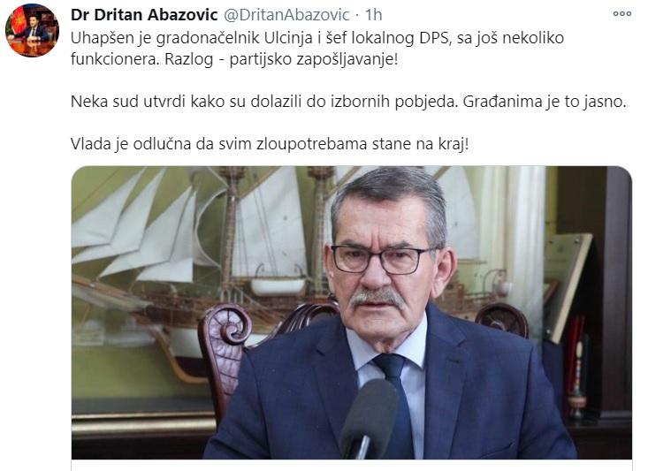 Црна Гора: Уапсен претседателот на општина Улцињ поради партиски вработувања