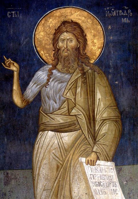 СВ. ЈОВАН КРСТИТЕЛ: Зазема особено место и заради начинот на доаѓањето во светот и заради улогата Крстител на Месијата