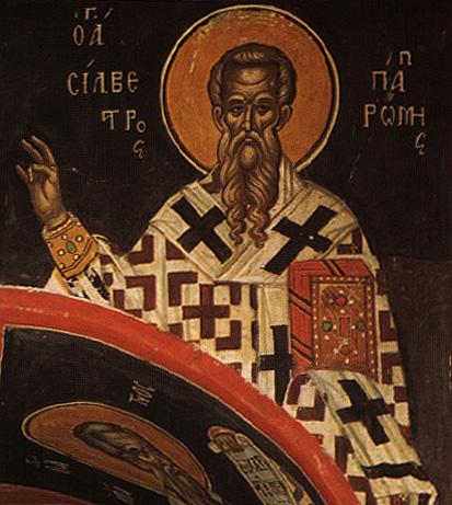 СВ. СИЛВЕСТЕР: Со своите чуда помогна да се крстат царот Константин и неговата мајка Елена