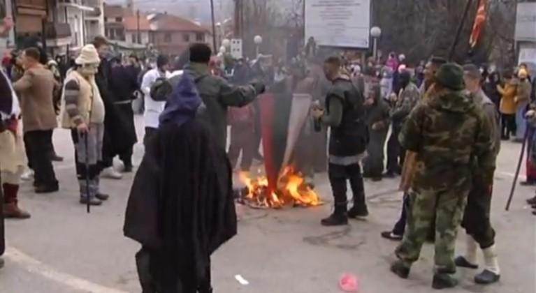 Струшкото Обвинителство ќе го бара тој што го запали бугарското знаме во Вевчани