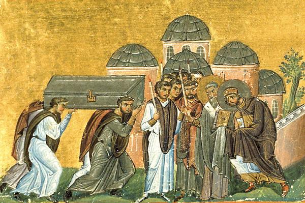 СВ. ЈОВАН ЗЛАТОУСТ: Ковчегот со моштите не можеле да го помрднат, но станал лесен кога на него било положено покајното писмо од царот