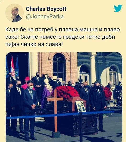 """Твитерџии го """"поздравија """"Петре Шилегов: Каде се оди на погреб во син костум и сина кравата?"""