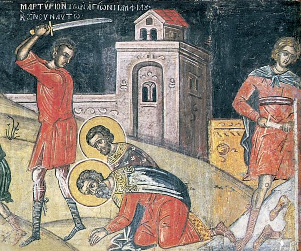 СВ. 12 МАЧЕНИЦИ: Сите беа убиени, а со нив и момчето Порфириј, кое побара да ги погребе