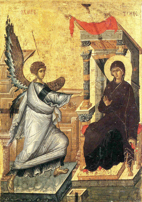 БЛАГОВЕШТЕНИЕ: Со архангелската благовест и слегувањето на Светиот Дух врз Пречистата Дева, започна спасението на луѓето