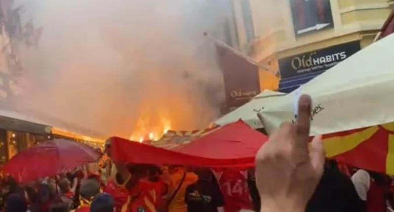 """ВИДЕО: Букурешт """"гори"""" од македонските навивачи"""