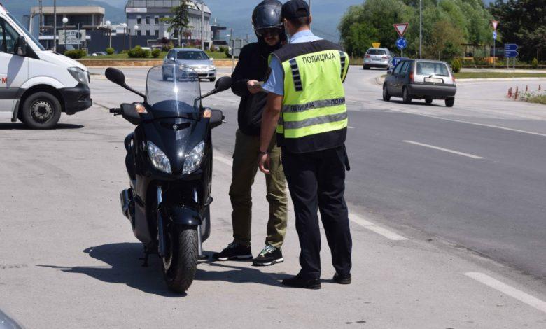 На територијата на државата вчера се санкционирани 156 мотоциклисти