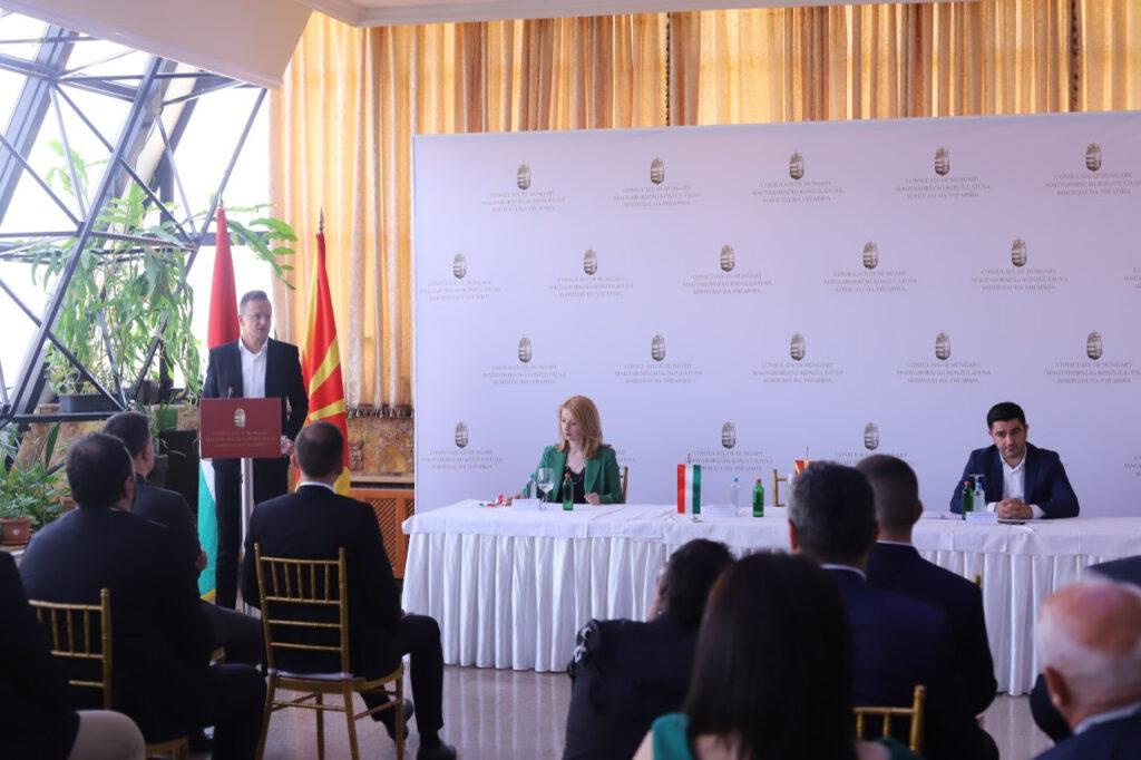 УНГАРСКИОТ МИНИСТЕР СИЈАРТО ВО ШТИП: Отворен Почесен конзулат на Унгарија и бизнис форум