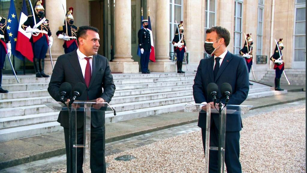 МАКРОН ДО ЗАЕВ ВО ПАРИЗ: Вашата земја заслужува да ги почне преговорите со ЕУ