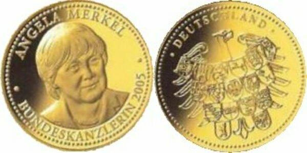 Ние Богородица и Гоце Делчев, Германците ја ставија Меркел на златници