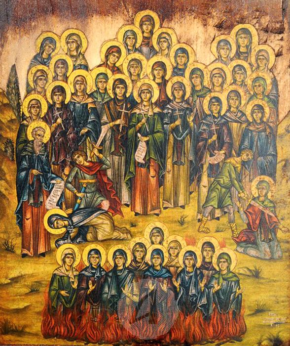 СВ. 40 ДЕВИ И ЃАКОНОТ АМУН: Пострадаа за Христа, во времето на римскиот император Ликиниј, во македонскиот град Одрин